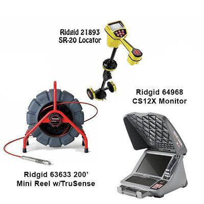 Ridgid 200 Mini Reel Wts 63633 Seektech Sr-20 Locator 21893 Cs12x 39338