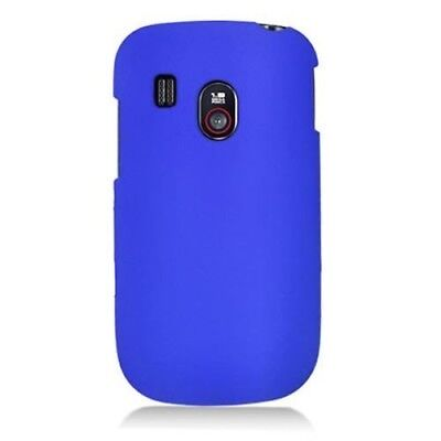 Hard Rubberized Plastic Matte Blue Phone Cover Case for LG -