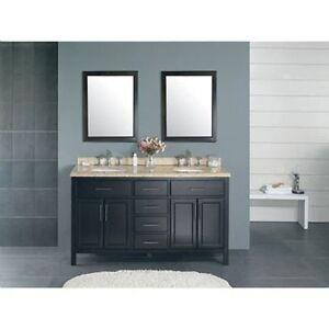 Granite Countertops Through Costco : ... -Country-Double-Sink-Bathroom-Vanity-Granite-Countertop-Free-Shipping