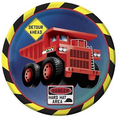 Construction Dinner Plates Boys Birthday Party Supplies Dump Truck Tableware 9