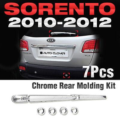 Chrome LED Side Mirror Cover Molding Trim 2P Silver B640 for KIA Sorento 2010~12