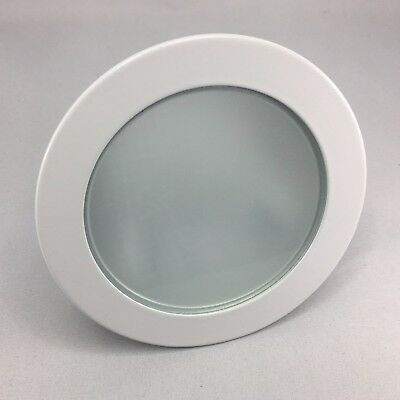 """4"""" Inch Frosted Glass Shower Metal Trim for 4"""" Low Voltage Recessed Can Light"""