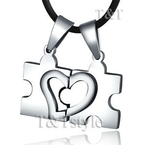 UNIQUE T&T Stainless Steel PUZZLE Pendant (for couple)