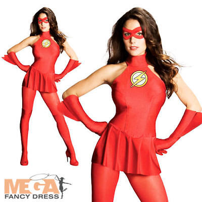 Sexy Flash Ladies Superhero Fancy Dress Womens Adults - Sexy Flash Kostüme
