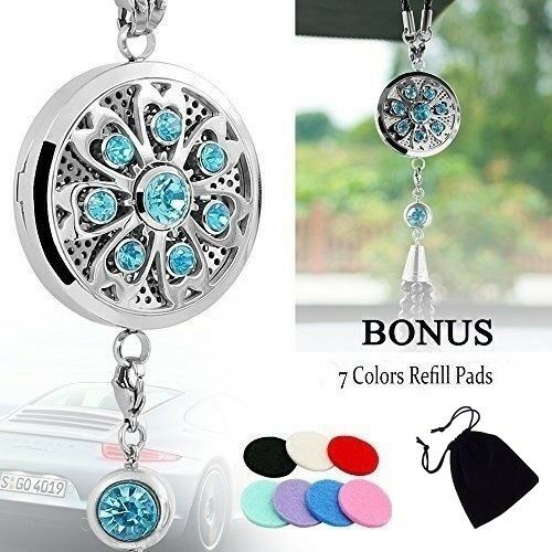 Stainless Steel Dangle Car Air Fresher 38mm Aroma Essential