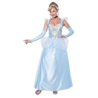 LICENSED DISNEY CLASSIC CINDERELLA  ADULT HALLOWEEN COSTUME WOMEN'S SIZE - Licensed Disney Halloween Costumes