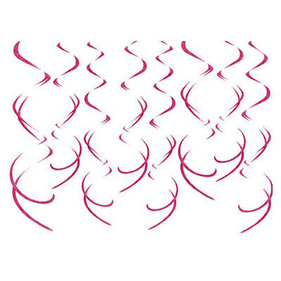 8 CT Hot Pink Swirl (Hot Pink Decorations)
