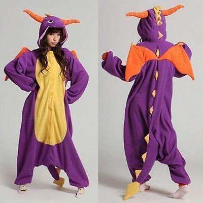 Spyro Dragon Unisex Adult one piece Kigurumi Pajamas Anime Cosplay Costume Dress - Spyro Dragon Costume