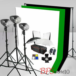 540W Flash Lighting Kit White Black Green Muslin Backdrop Background Stand Earth - <span itemprop=availableAtOrFrom>Warsaw, Polska</span> - Zwroty są przyjmowane - Warsaw, Polska