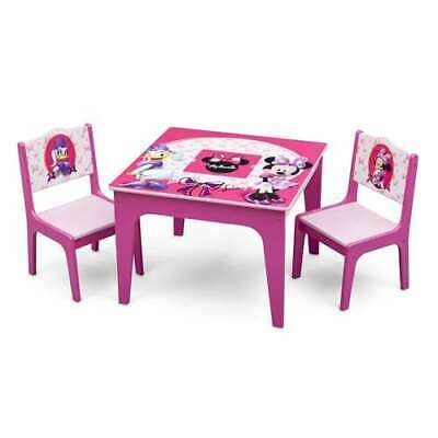 Minnie Mouse Table And Chair (Delta Children Disney Minnie Mouse Kids Play Table and Chairs Set (Open)