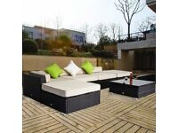 **FREE UK DELIVERY** 30% OFF! Deluxe 6 Piece Rattan Garden Corner Sofa Set - BRAND NEW