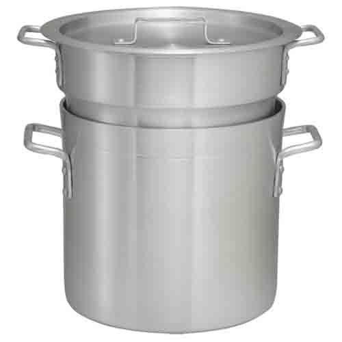 Winco ALDB-20, 20-Quart Aluminum Double Boiler Set, NSF