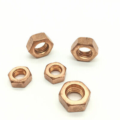 Copper Hex Nut Brass Hexagon Nuts Screw Cap M5 M6 M8 M10 M12