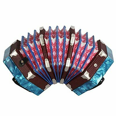 ammoon Concertina Accordion 20-Button 40-Reed Anglo Style with Carrying Bag