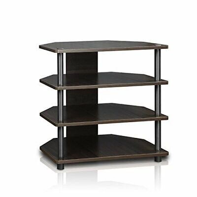 Audio Component Rack Tower Media Stereo Stand Equipment Shelves Blackwood Shelve Audio Stand