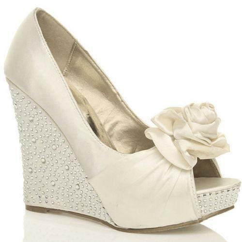 wedding shoes wedge wedge wedding shoes ebay 1135