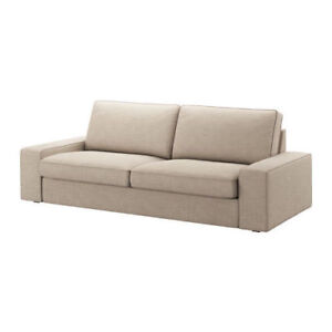 """ikea kivik sofa cover Hillared beige """"NOT A SOFA"""" COVER ONLY"""