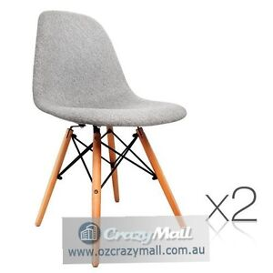 2 ABS Plastic Polyester fabric Beech wood Dining Chairs Melbourne CBD Melbourne City Preview