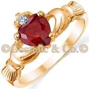 Ruby Heart Ring Gold