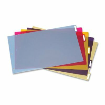 Cardinal Poly Divider With Adhesive Tabs - 5 X Divider - 5 Tabsset - 17.50 X