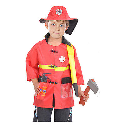 Firefighter role-playing cosplay costume Halloween Christmas Party gift for kids - Fireman Costume For Halloween