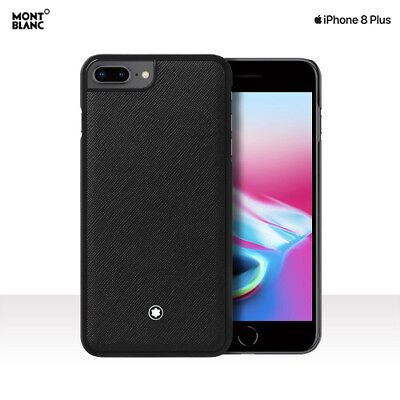 Genuine Montblanc Italian Calf Skin Leather Hard Shell Cover Case iPhone 8 Plus