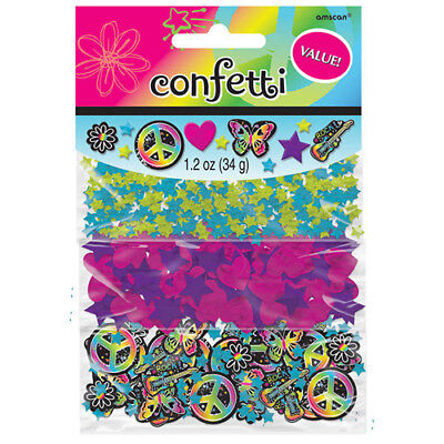 Neon Doodle Party Supplies (NEON DOODLE CONFETTI VALUE PACK (3 types) ~ Birthday Party Supplies)