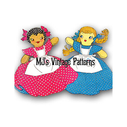 Vintage Doll Pattern ~ Topsy & Eva Topsy Turvy Upside Down Cloth Toy