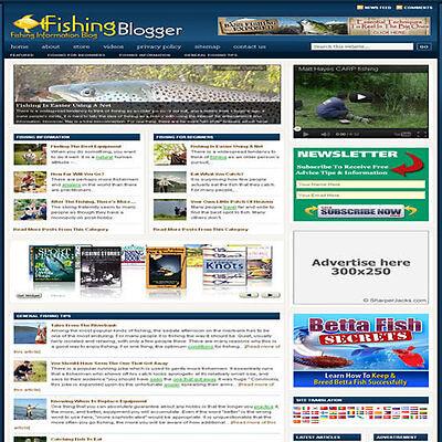 Established Fishing Affiliate Website Turnkey Business For Sale Free Hosting