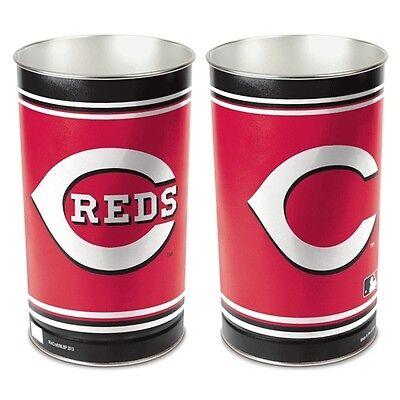 CINCINNATI REDS ~ MLB 15 Inch Wastebasket Trash Can ~ (15 Inch Wastebasket Trash Can)