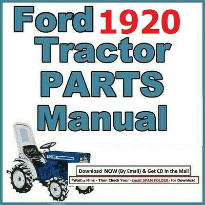 Ford 1920 4 Cylinder Compact Tractor Service Parts List Manual