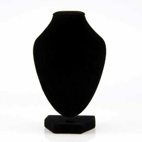 """10"""" Velvet Mannequin Necklace Jewelry Display Stand Holder Decorate Pendant Bust"""