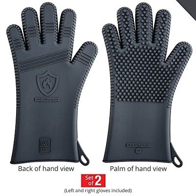 Premium Silicone BBQ Gloves - Heat Resistant for Grill Barbe