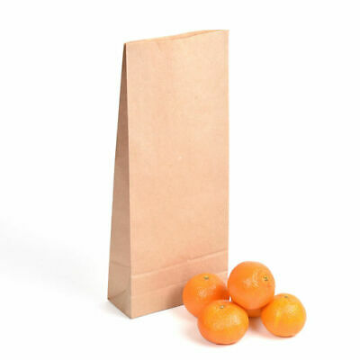 7lb Block Bottom Brown Recyclable, Biodegradable Paper Kraft Bags - Pack of 250