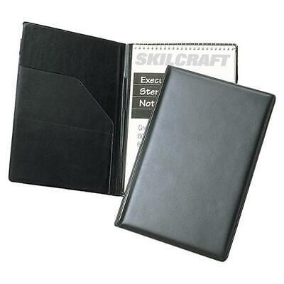 Skilcraft Steno Pad Holderf 6x9 80-pg. Notebook Vinyl Black Nsn4547388