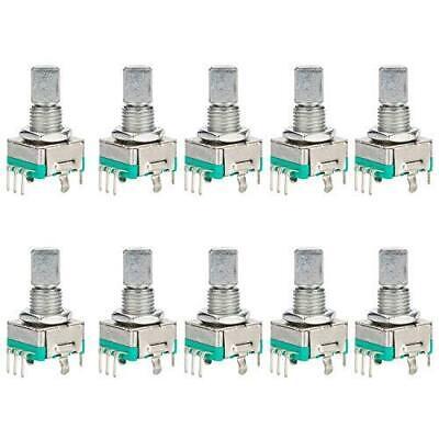 Diyhz 10 Pcs Ec11 Rotary Encoder Dode Switch Audio Digital Potentiometer With