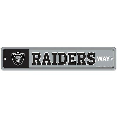 Oakland Raiders Display (OAKLAND RAIDERS WAY ~ Official NFL Wall Display 3.75 x 19 Street Sign Decoration )