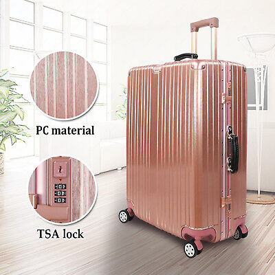 "28"" PC Hardside Spinner Suitcase Luggage Travel Bag Trolley Carry On w/TSA Lock"