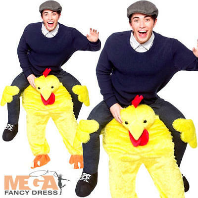 Carry Me Ride On Chicken Adult Fancy Dress Piggy Back Farm Animal Mascot Costume