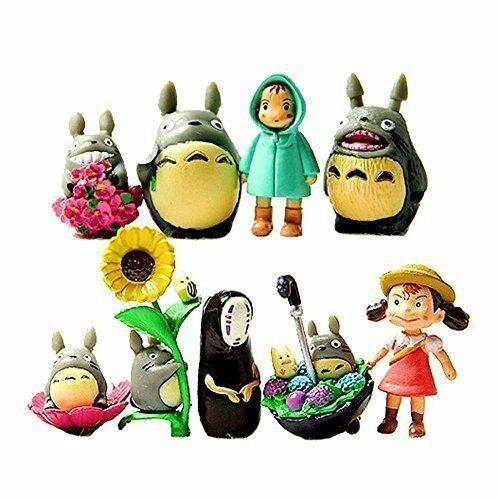 9pc My Neighbor Totoro Figure Hayao Miyazaki PONYO Spirited Away Anime Models US