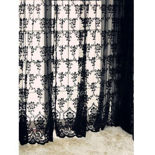 Black Lace Curtains Ebay