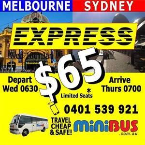 SYDNEY to MELBOURNE Bus $65 Docklands Melbourne City Preview
