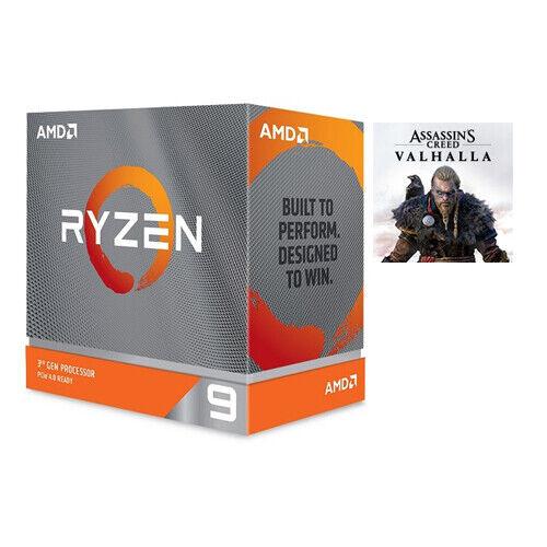 AMD Ryzen 9 3900XT Desktop Processor + Assassins Creed Valhalla (Email Delivery)