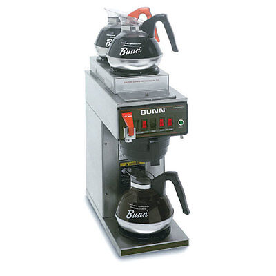 Automatic Commercial Coffee Brewer Whot Water Faucet 3 In-line Warmers 120v