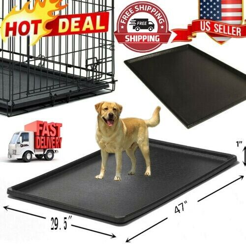 Pet Dog Crate Replacement Pan 47 Inch Plastic Liner Repl Tra