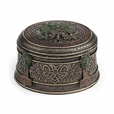 Acorn Tree Greenman Celtic Trinket Box