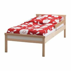 Description SNIGLAR IKEA Bed (birch color) ++slots + Mattress  E
