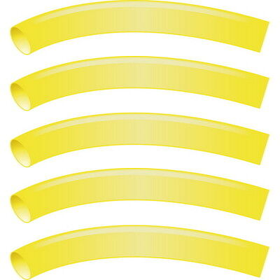 5 Pack Yellow 3/16 Inch x 48 Inch 3:1 Heat Shrink Tubing with Sealant for Boats
