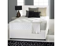"MEMORY FOAM DIVAN BED SET + 10"" DUAL TURN MATTRESS + HEADBOARD (COLOUR CHOICE)"