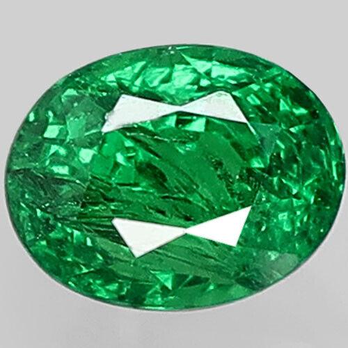 1.37Ct. Fabulous! 100%Natural Emerald Green Tsavorite Garnet Kenya Oval Unheated